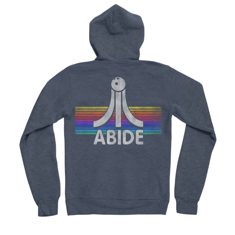 Abide Women's Sponge Fleece Zip-Up Hoody by Gamma Bomb - Explosively Mutating Your Look
