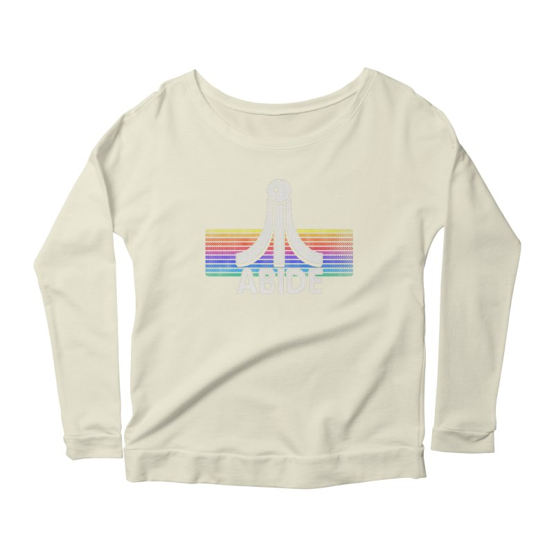 Abide Women's Scoop Neck Longsleeve T-Shirt by Gamma Bomb - Explosively Mutating Your Look