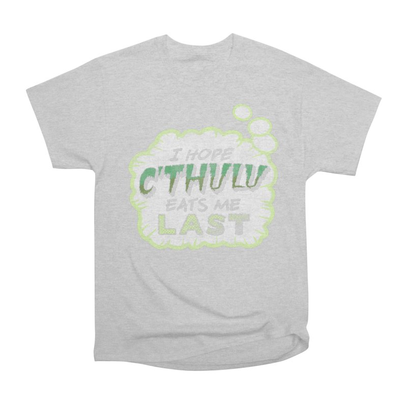 Deep One Thoughts Women's Heavyweight Unisex T-Shirt by Gamma Bomb - Explosively Mutating Your Look