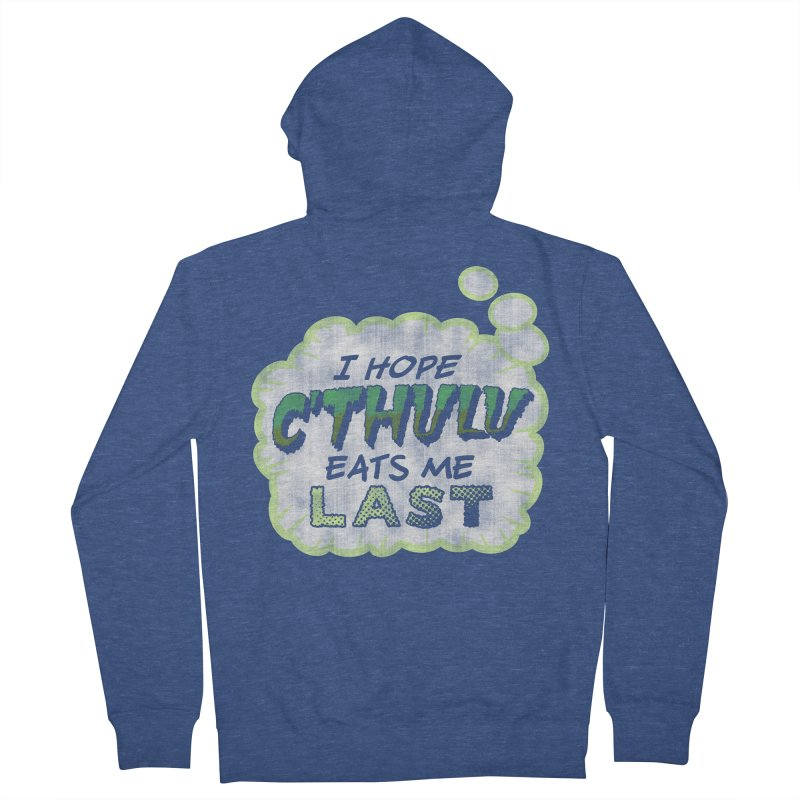 Deep One Thoughts Women's French Terry Zip-Up Hoody by Gamma Bomb - Explosively Mutating Your Look