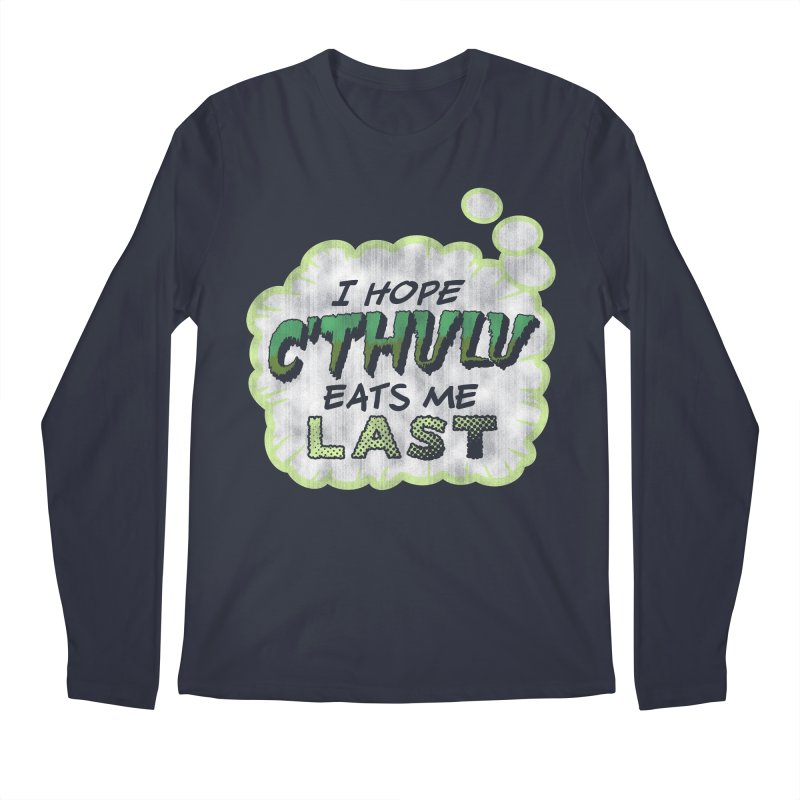 Deep One Thoughts Men's Regular Longsleeve T-Shirt by Gamma Bomb - Explosively Mutating Your Look