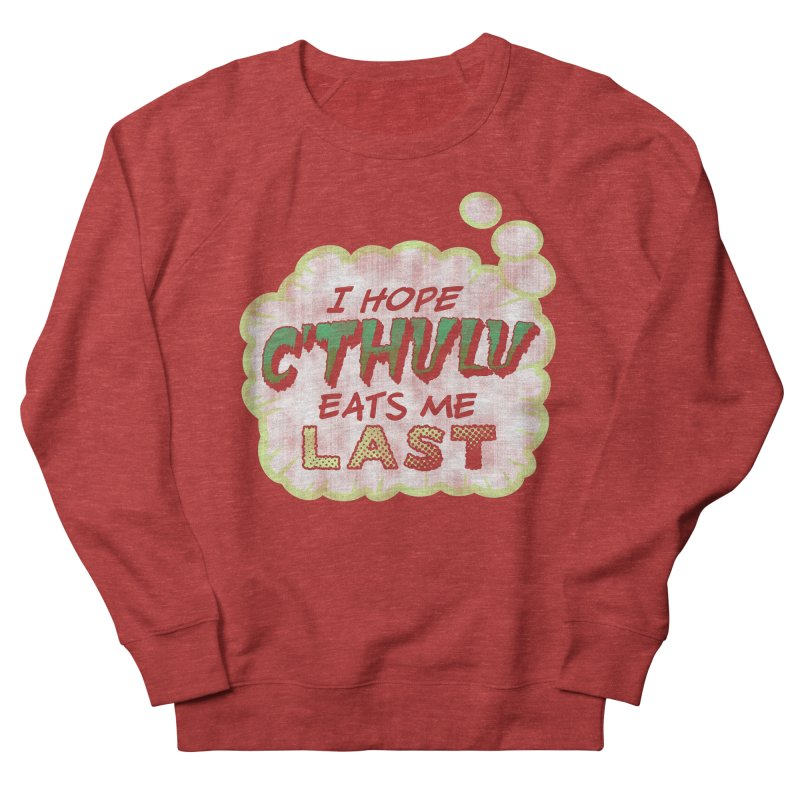 Deep One Thoughts Women's French Terry Sweatshirt by Gamma Bomb - Explosively Mutating Your Look