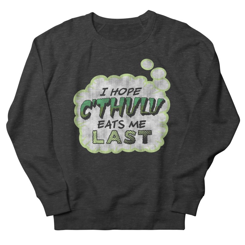 Deep One Thoughts Men's French Terry Sweatshirt by Gamma Bomb - Explosively Mutating Your Look