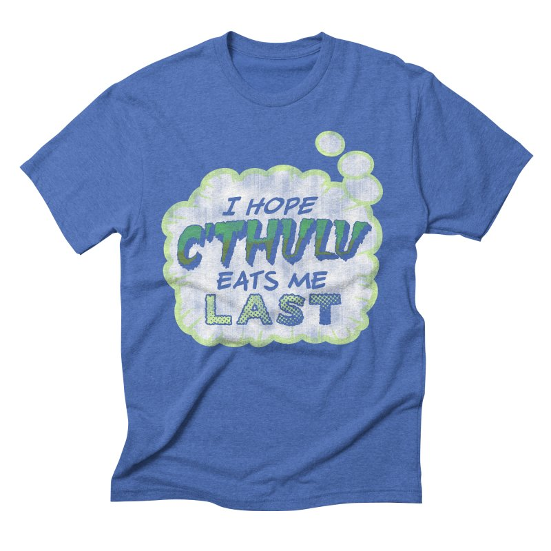 Deep One Thoughts Men's Triblend T-Shirt by Gamma Bomb - Explosively Mutating Your Look