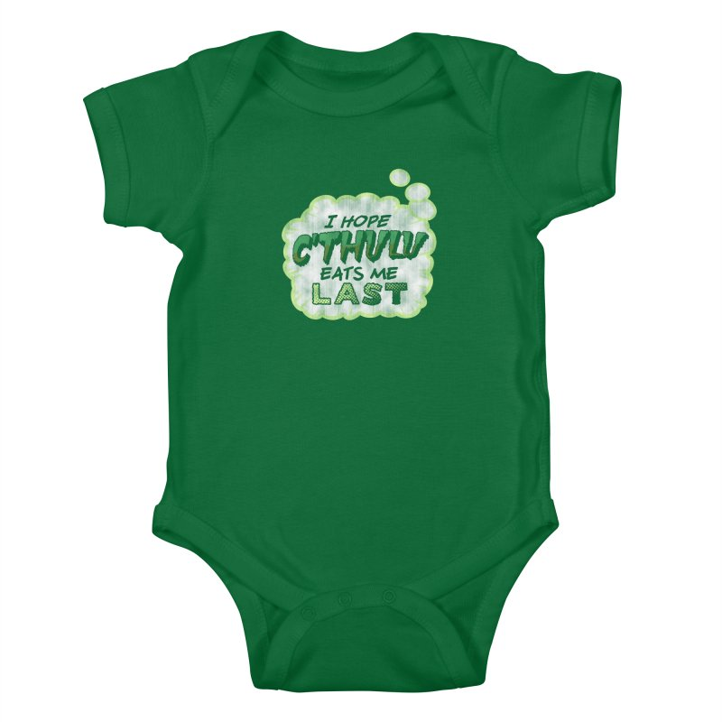 Deep One Thoughts Kids Baby Bodysuit by Gamma Bomb - Explosively Mutating Your Look