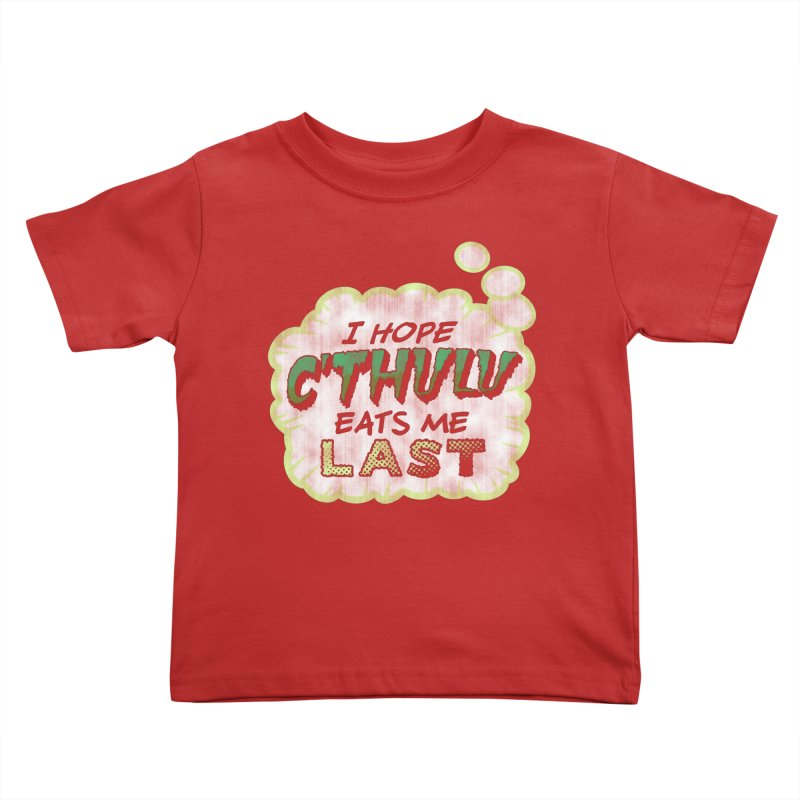 Deep One Thoughts Kids Toddler T-Shirt by Gamma Bomb - Explosively Mutating Your Look