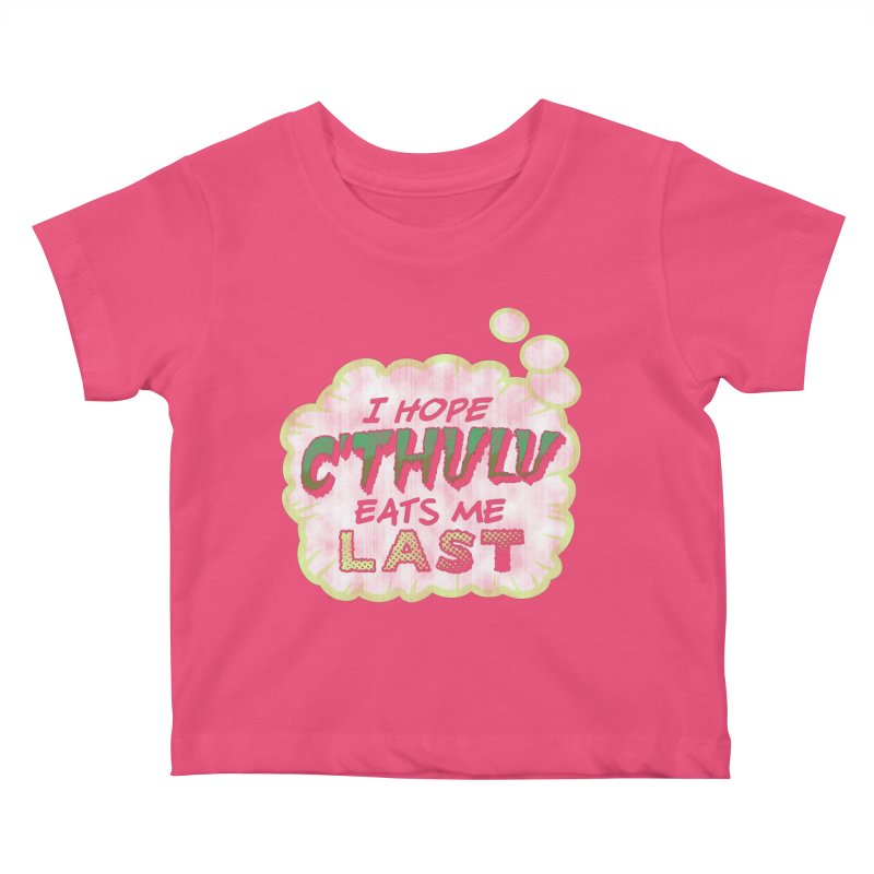 Deep One Thoughts Kids Baby T-Shirt by Gamma Bomb - Explosively Mutating Your Look