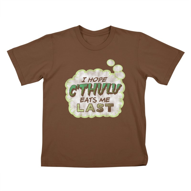 Deep One Thoughts Kids T-Shirt by Gamma Bomb - Explosively Mutating Your Look