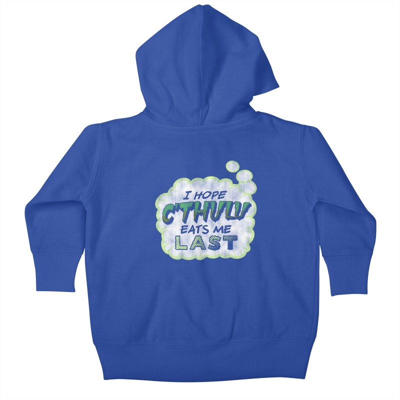Deep One Thoughts Kids Baby Zip-Up Hoody by Gamma Bomb - Explosively Mutating Your Look