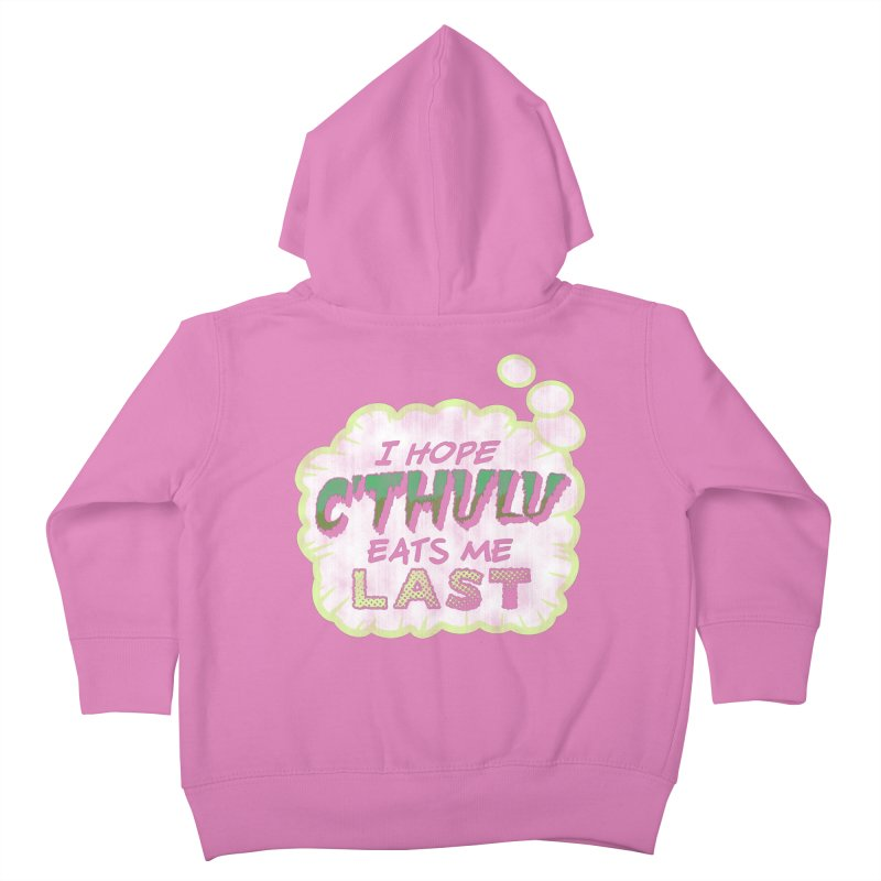 Deep One Thoughts Kids Toddler Zip-Up Hoody by Gamma Bomb - Explosively Mutating Your Look