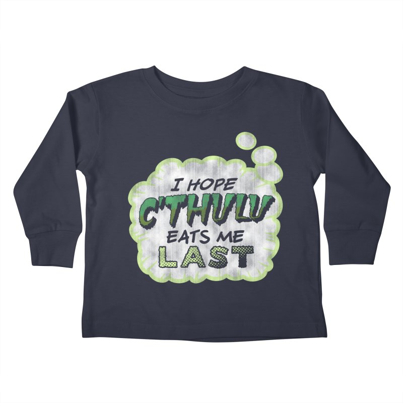 Deep One Thoughts Kids Toddler Longsleeve T-Shirt by Gamma Bomb - Explosively Mutating Your Look