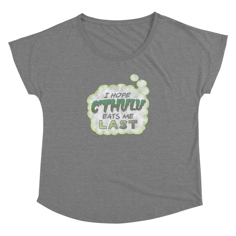 Deep One Thoughts Women's Scoop Neck by Gamma Bomb - Explosively Mutating Your Look