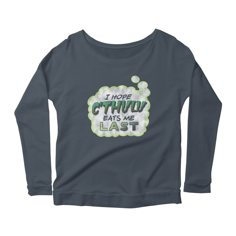 Deep One Thoughts Women's Scoop Neck Longsleeve T-Shirt by Gamma Bomb - Explosively Mutating Your Look