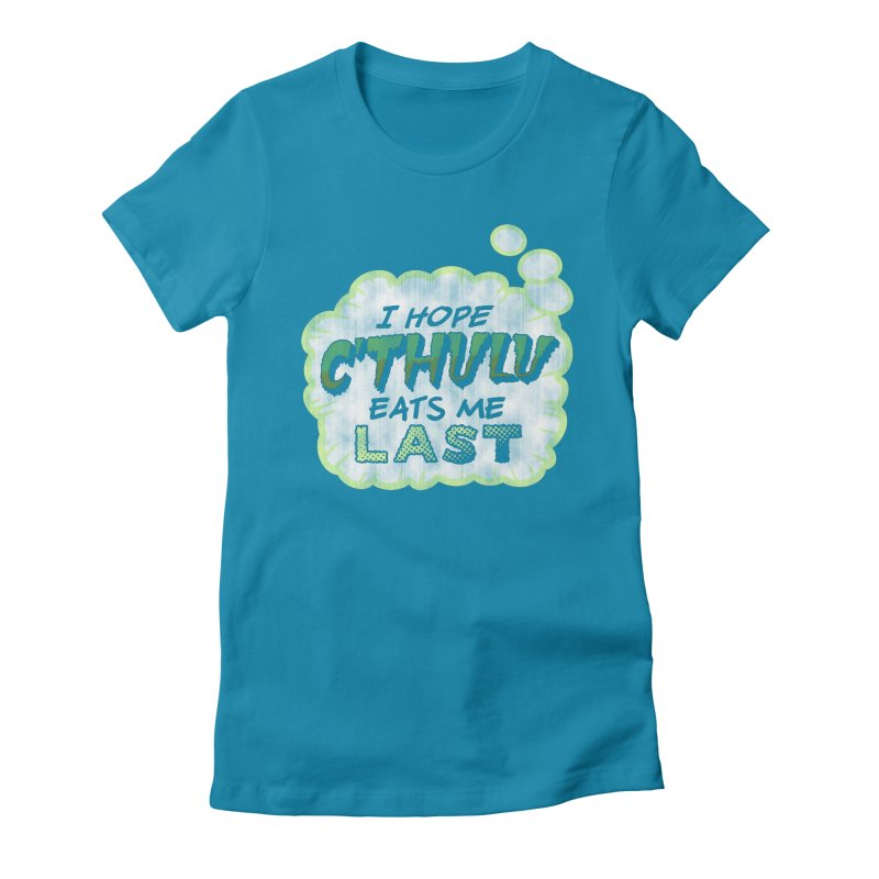 Deep One Thoughts Women's Fitted T-Shirt by Gamma Bomb - Explosively Mutating Your Look