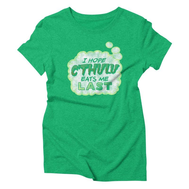 Deep One Thoughts Women's Triblend T-Shirt by Gamma Bomb - Explosively Mutating Your Look