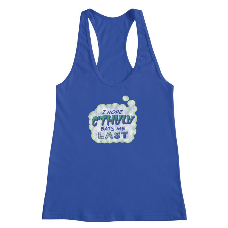 Deep One Thoughts Women's Racerback Tank by Gamma Bomb - Explosively Mutating Your Look