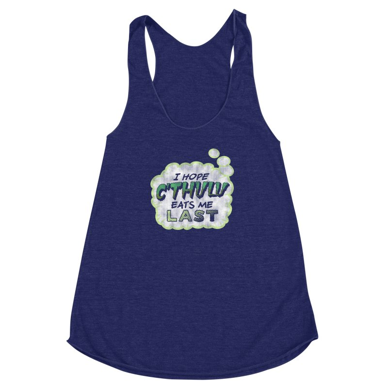 Deep One Thoughts Women's Racerback Triblend Tank by Gamma Bomb - Explosively Mutating Your Look
