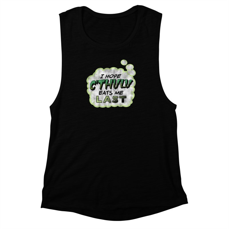 Deep One Thoughts Women's Muscle Tank by Gamma Bomb - Explosively Mutating Your Look