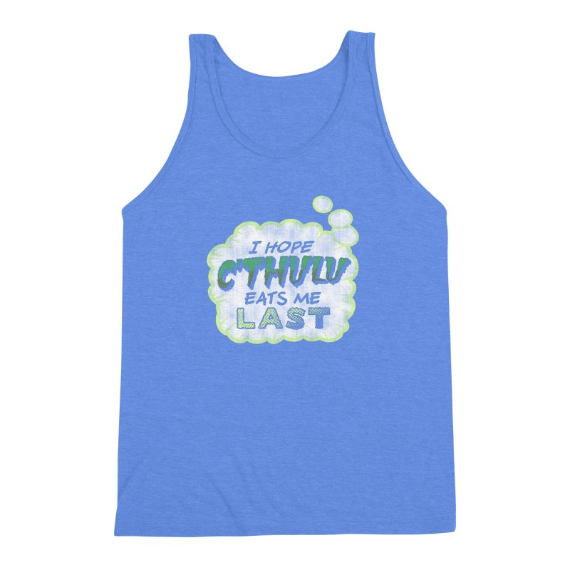 Deep One Thoughts Men's Triblend Tank by Gamma Bomb - Explosively Mutating Your Look