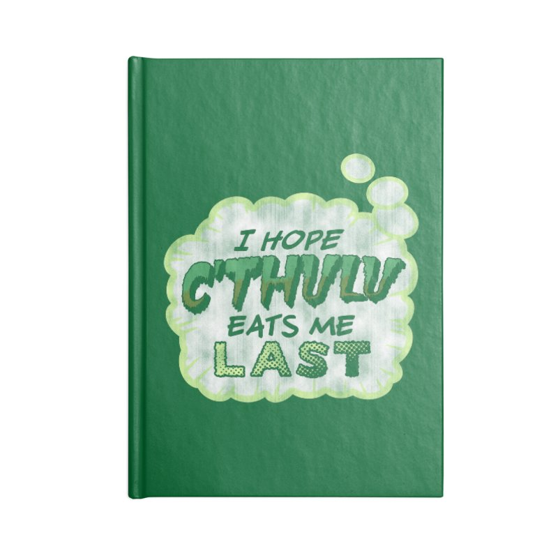 Deep One Thoughts Accessories Lined Journal Notebook by Gamma Bomb - Explosively Mutating Your Look