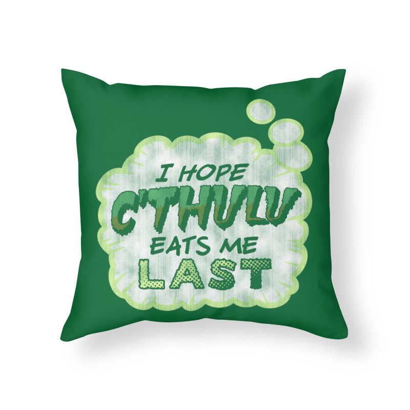 Deep One Thoughts Home Throw Pillow by Gamma Bomb - Explosively Mutating Your Look