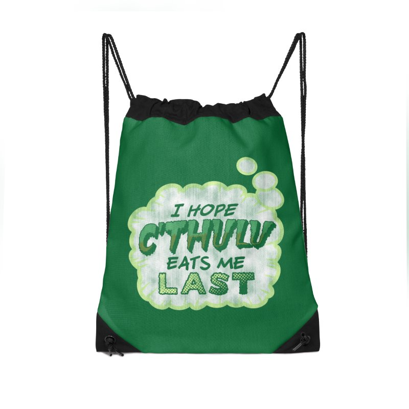 Deep One Thoughts Accessories Drawstring Bag Bag by Gamma Bomb - Explosively Mutating Your Look