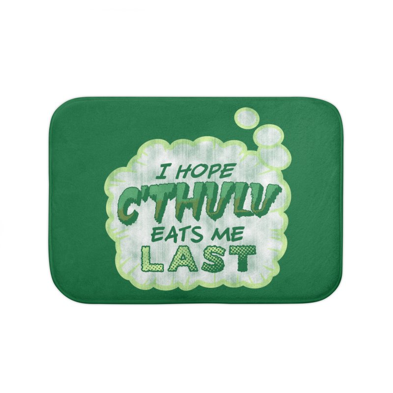 Deep One Thoughts Home Bath Mat by Gamma Bomb - Explosively Mutating Your Look