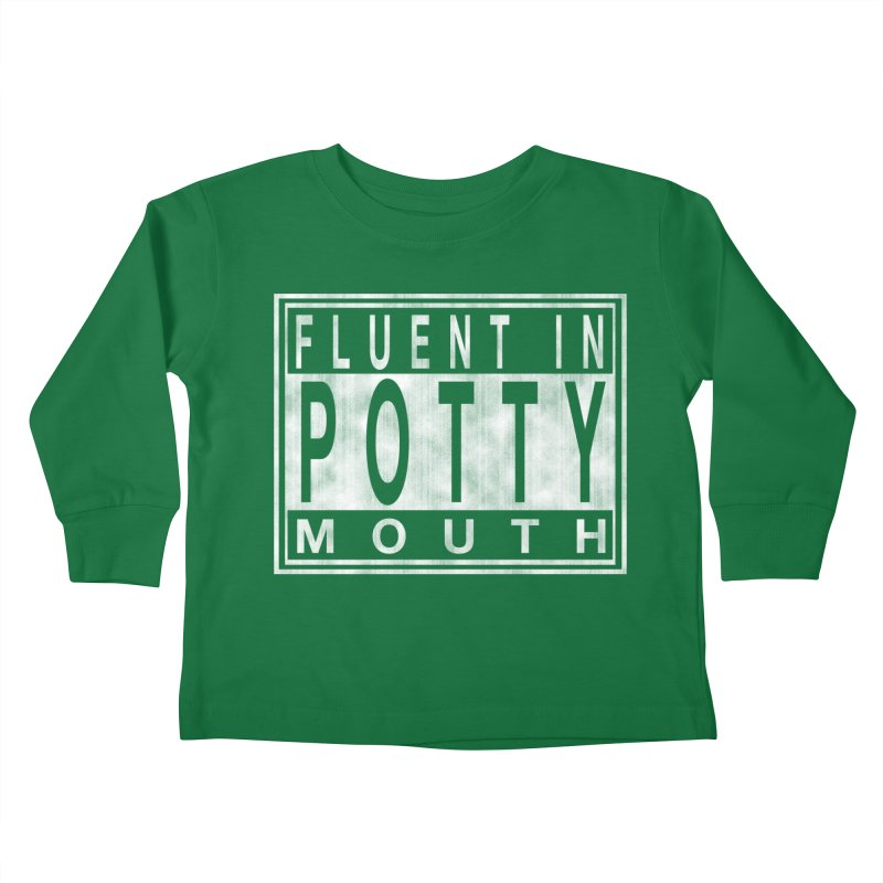 Personal Warning Label Kids Toddler Longsleeve T-Shirt by Gamma Bomb - Explosively Mutating Your Look