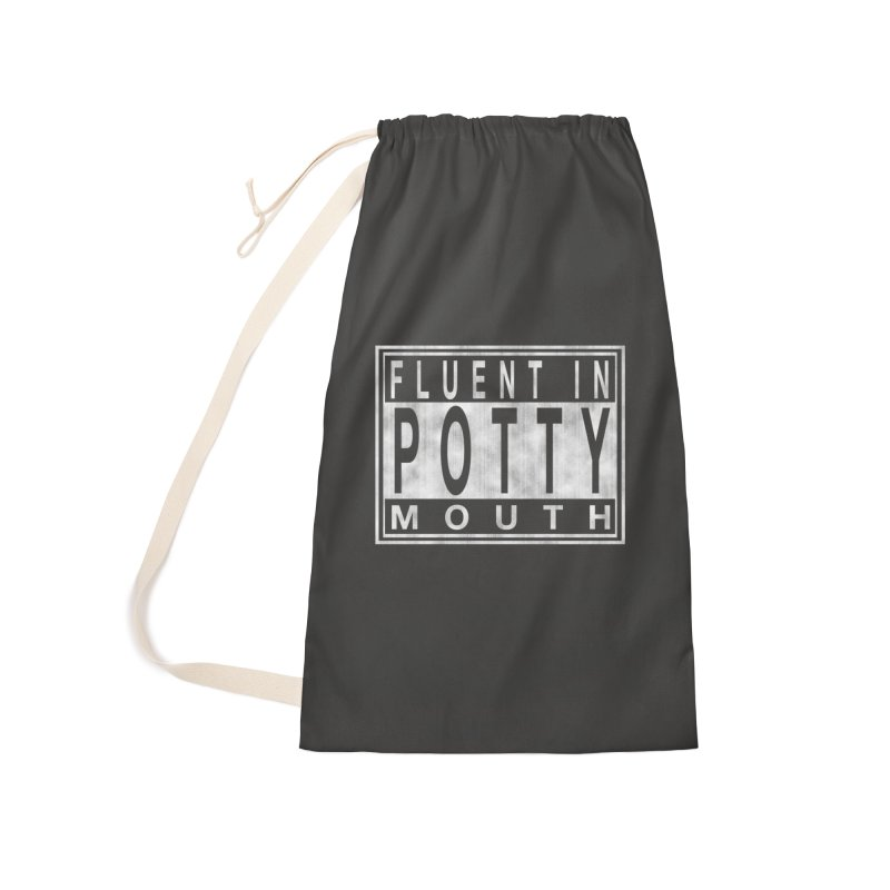 Personal Warning Label Accessories Laundry Bag Bag by Gamma Bomb - Explosively Mutating Your Look