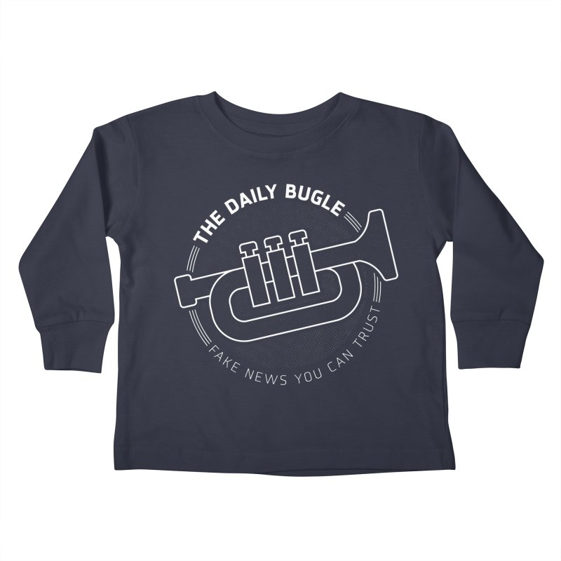 Fake News Kids Toddler Longsleeve T-Shirt by Gamma Bomb - Explosively Mutating Your Look