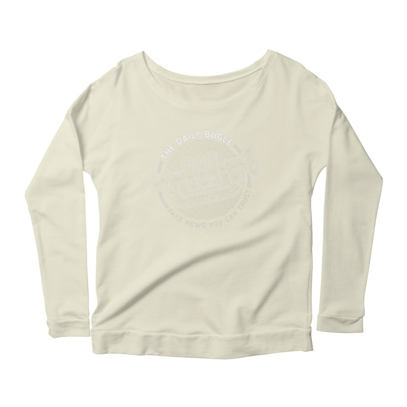 Fake News Women's Scoop Neck Longsleeve T-Shirt by Gamma Bomb - Explosively Mutating Your Look