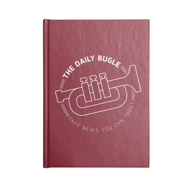 Fake News Accessories Blank Journal Notebook by Gamma Bomb - Explosively Mutating Your Look