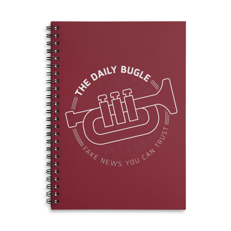 Fake News Accessories Lined Spiral Notebook by Gamma Bomb - Explosively Mutating Your Look