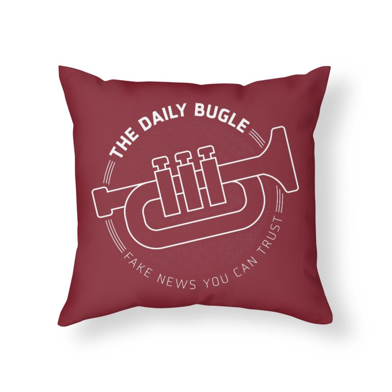 Fake News Home Throw Pillow by Gamma Bomb - Explosively Mutating Your Look
