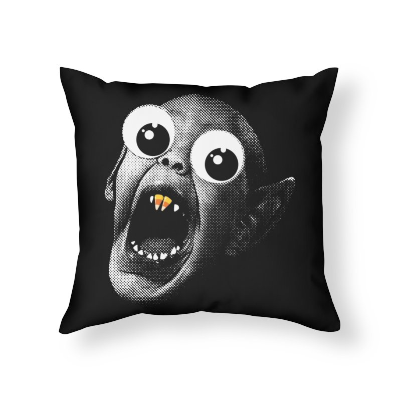 OMFG Candy Corn Home Throw Pillow by Gamma Bomb - Explosively Mutating Your Look