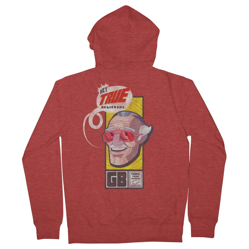 True Believer - Fearless Flavor Women's French Terry Zip-Up Hoody by Gamma Bomb - Explosively Mutating Your Look