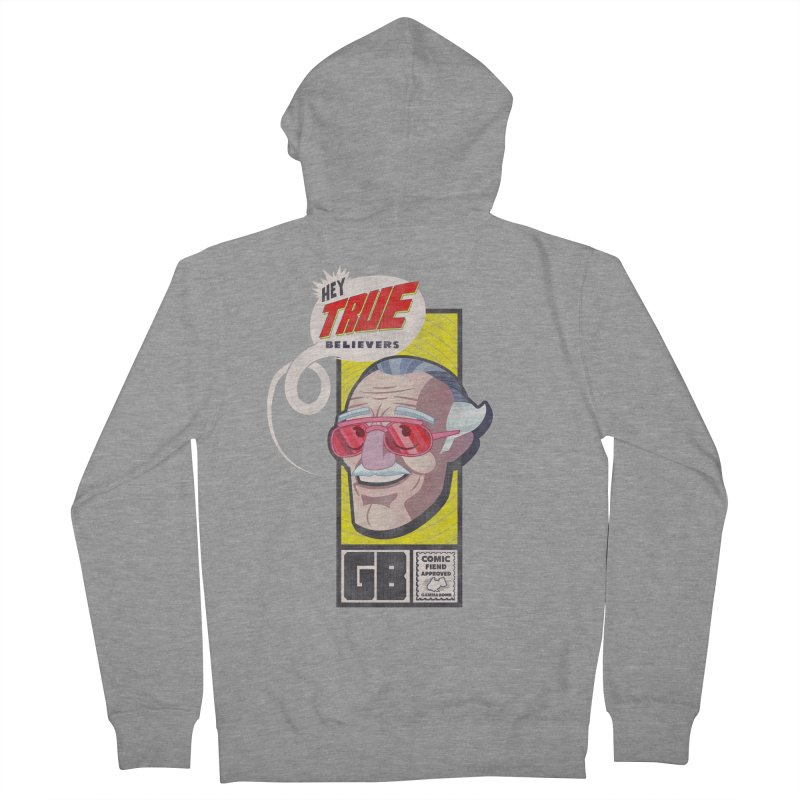True Believer - Fearless Flavor Men's French Terry Zip-Up Hoody by Gamma Bomb - Explosively Mutating Your Look