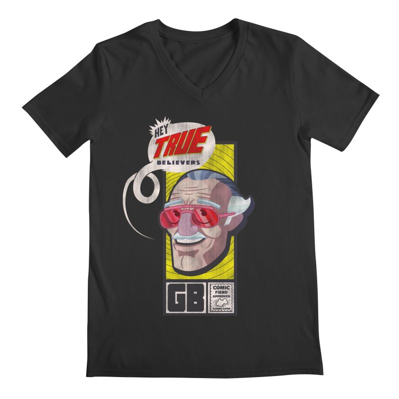 True Believer - Fearless Flavor Men's Regular V-Neck by Gamma Bomb - Explosively Mutating Your Look
