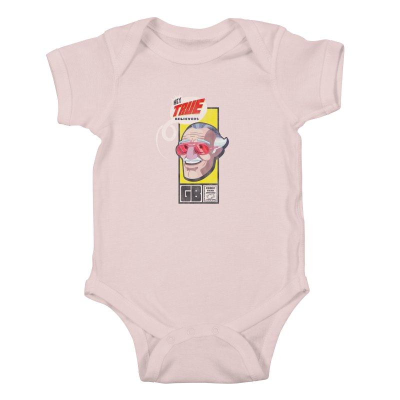 True Believer - Fearless Flavor Kids Baby Bodysuit by Gamma Bomb - Explosively Mutating Your Look