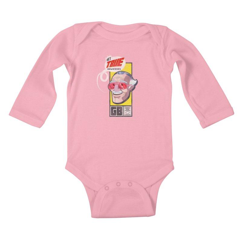 True Believer - Fearless Flavor Kids Baby Longsleeve Bodysuit by Gamma Bomb - Explosively Mutating Your Look