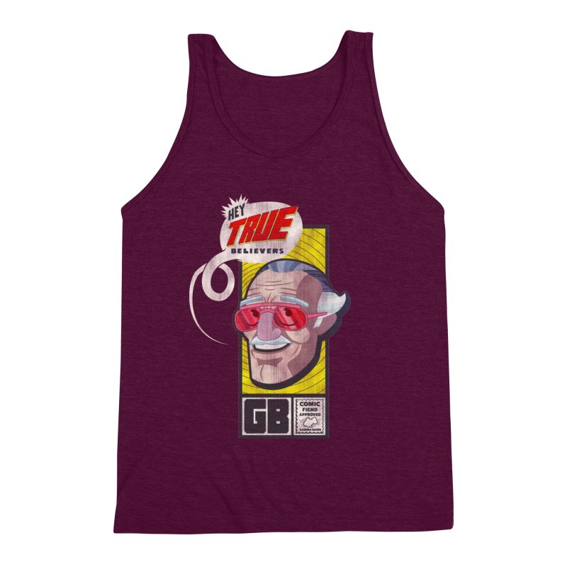 True Believer - Fearless Flavor Men's Triblend Tank by Gamma Bomb - Explosively Mutating Your Look
