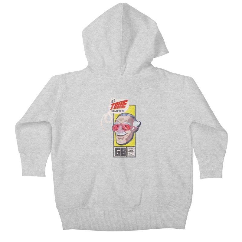 True Believer - Fearless Flavor Kids Baby Zip-Up Hoody by Gamma Bomb - Explosively Mutating Your Look