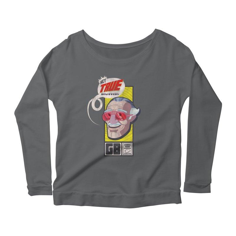 True Believer - Fearless Flavor Women's Scoop Neck Longsleeve T-Shirt by Gamma Bomb - Explosively Mutating Your Look