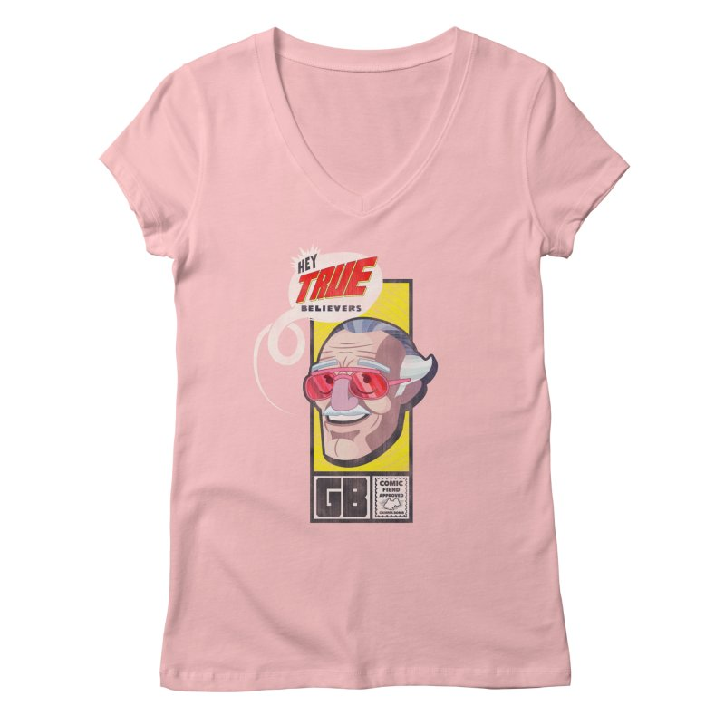 True Believer - Fearless Flavor Women's Regular V-Neck by Gamma Bomb - Explosively Mutating Your Look