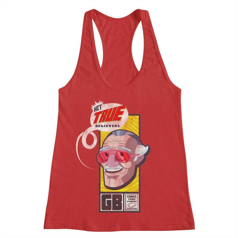 True Believer - Fearless Flavor Women's Racerback Tank by Gamma Bomb - Explosively Mutating Your Look