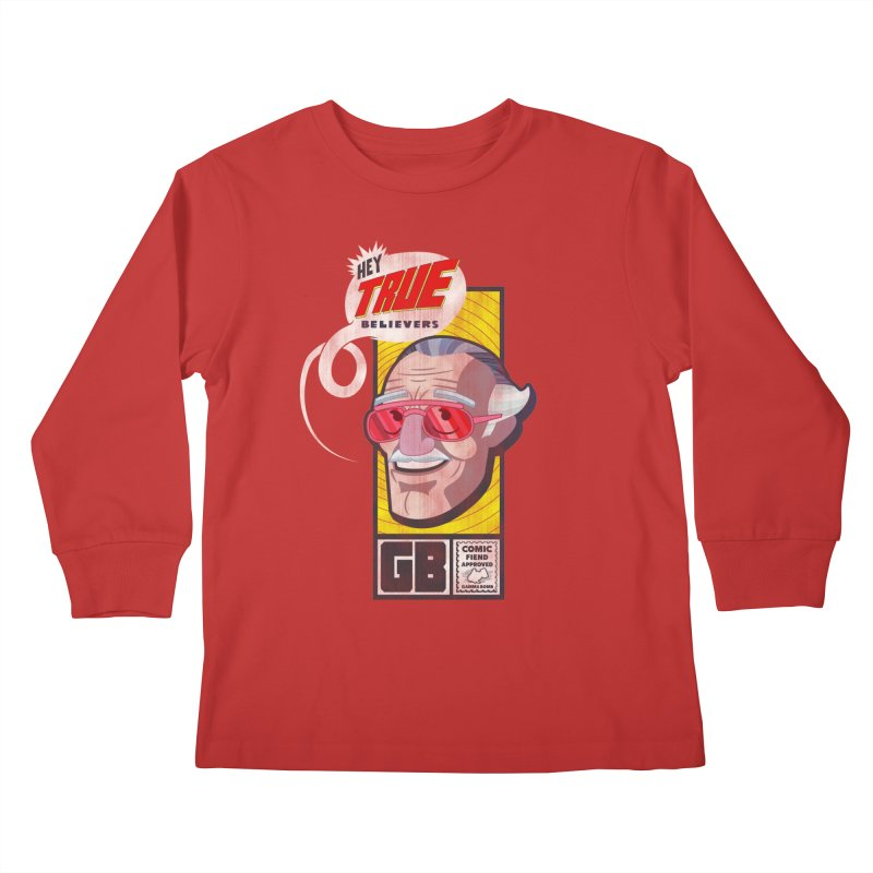 True Believer - Fearless Flavor Kids Longsleeve T-Shirt by Gamma Bomb - Explosively Mutating Your Look