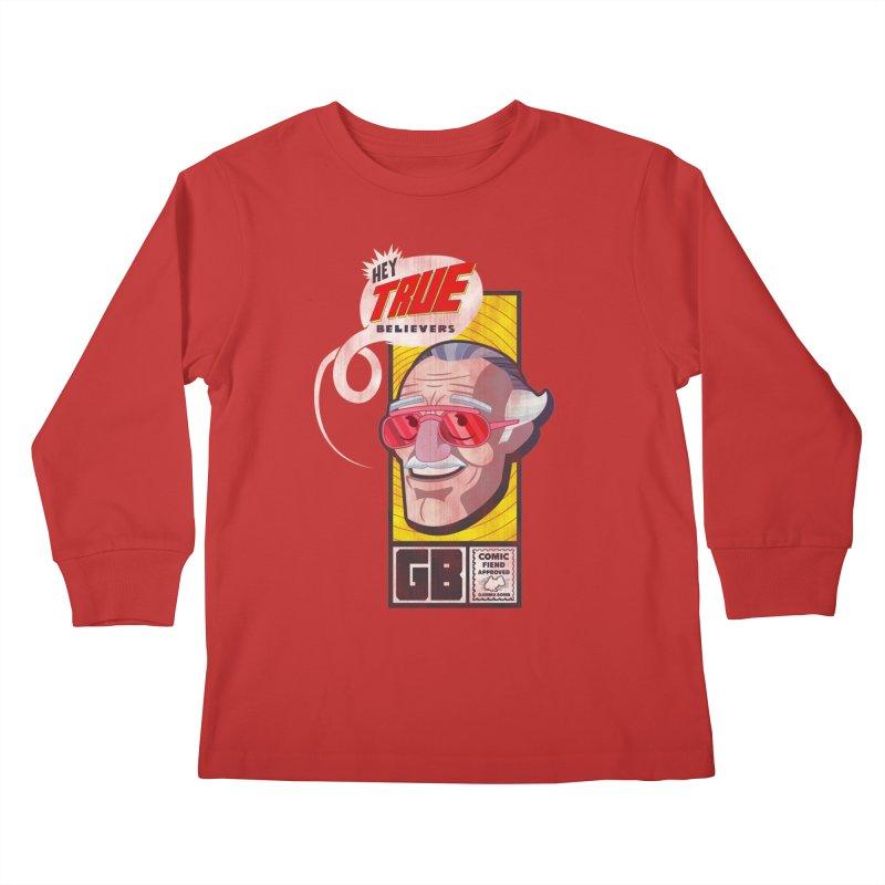 True Believer - Fearless Flavor Kids Longsleeve T-Shirt by Gamma Bomb - Explosively Mutating Your Look