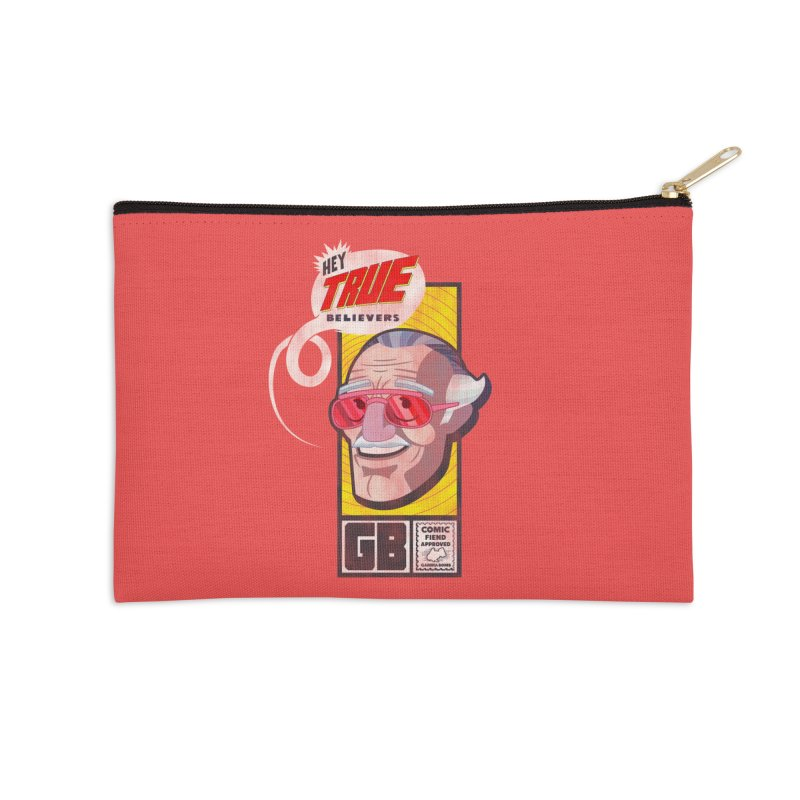 True Believer - Fearless Flavor Accessories Zip Pouch by Gamma Bomb - Explosively Mutating Your Look