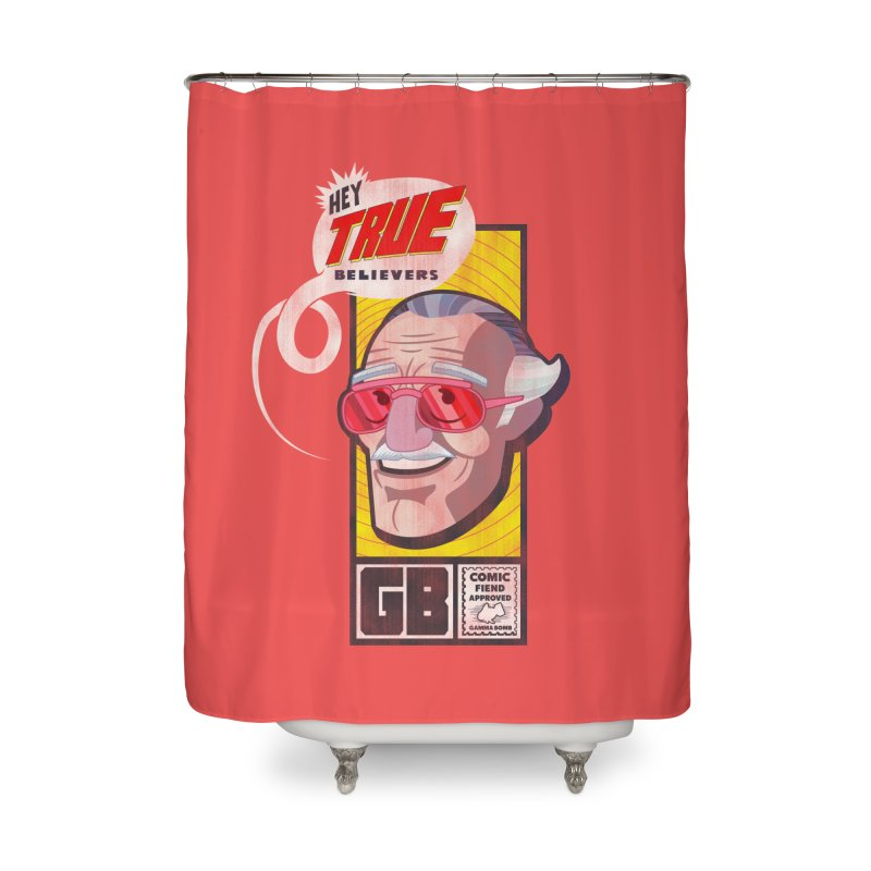 True Believer - Fearless Flavor Home Shower Curtain by Gamma Bomb - Explosively Mutating Your Look