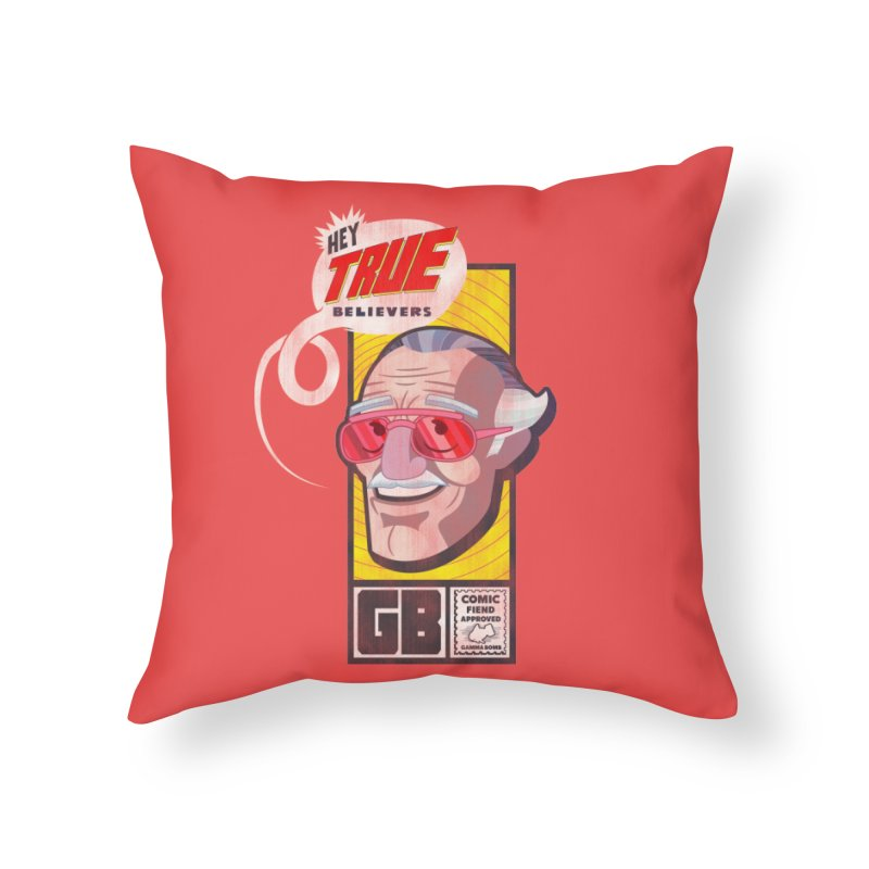True Believer - Fearless Flavor Home Throw Pillow by Gamma Bomb - Explosively Mutating Your Look